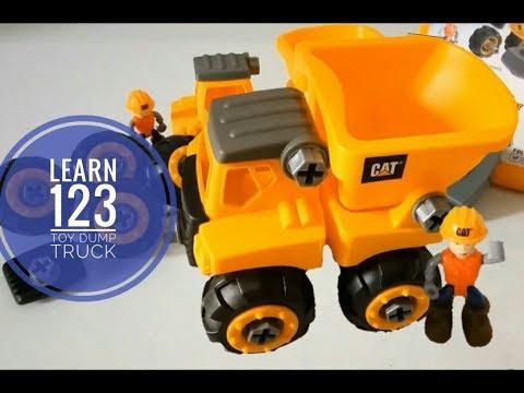 Best Learning Video for Kids Learn 123's | CAT Toy Truck | Junior Operator Dump Truck | ERIL kid TV