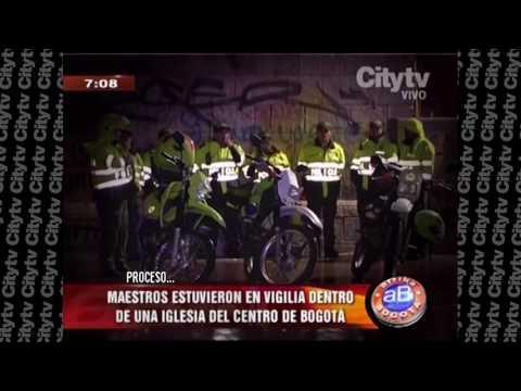 Maestros permanecen en vigilia en el centro de Bogotá | CityTv