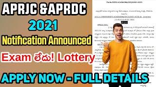 APRJC & APRDC Notification 2021 Announced | Full details about APRJC APRDC 2021 | Apply for APRJC&DC