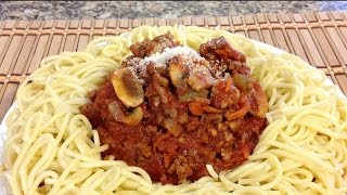 How To Make Spaghetti Sauce With Italian Sausage And Beef-American Comfort Food Recipes