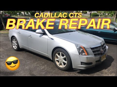 CADILLAC CTS BRAKE REPLACEMENT – Installing New Brake Pads and Rotors on a 2009 Cadillac CTS. Easy!