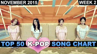 K-POP SONG CHART [TOP 50] NOVEMBER 2015 (WEEK 2)