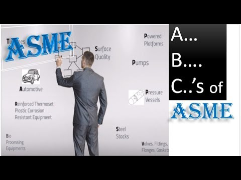 A, B, Cs of ASME CODES and Standards |Industry & Application wise Complete List of ASME