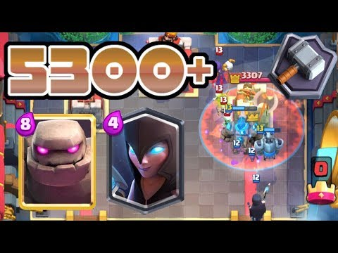 MASTER 2 PUSHING GOLEM NIGHT WITCH DECK! NEW PERSONAL BEST! | Clash Royale