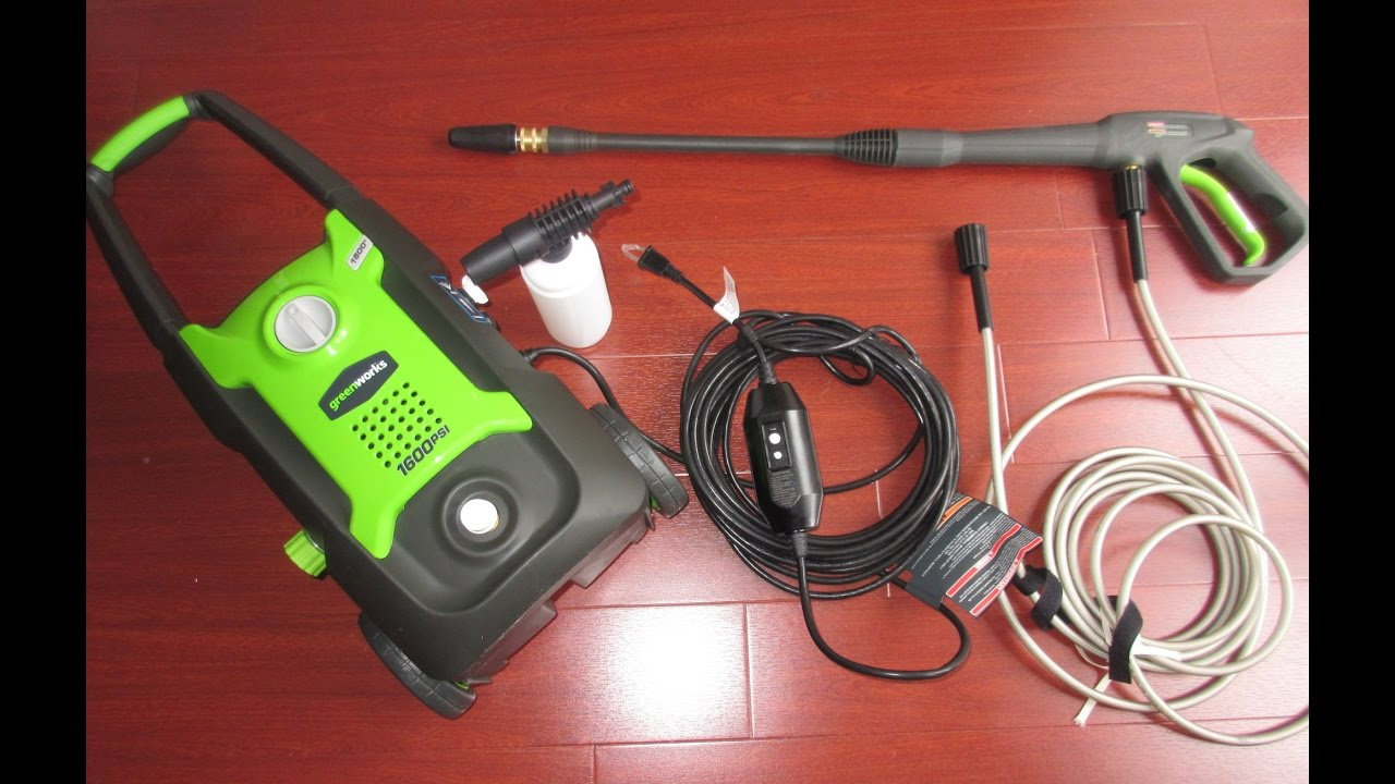 GreenWorks GPW1600 Review: Best 1600 PSI Electric Pressure Washer