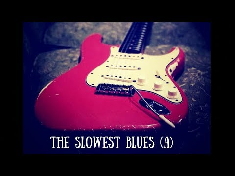 The Slowest Blues Jam | Sexy Guitar Backing Track (A)