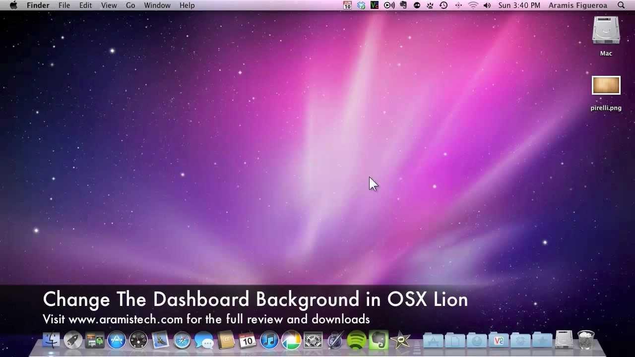 change mac osx dashboard background - youtube