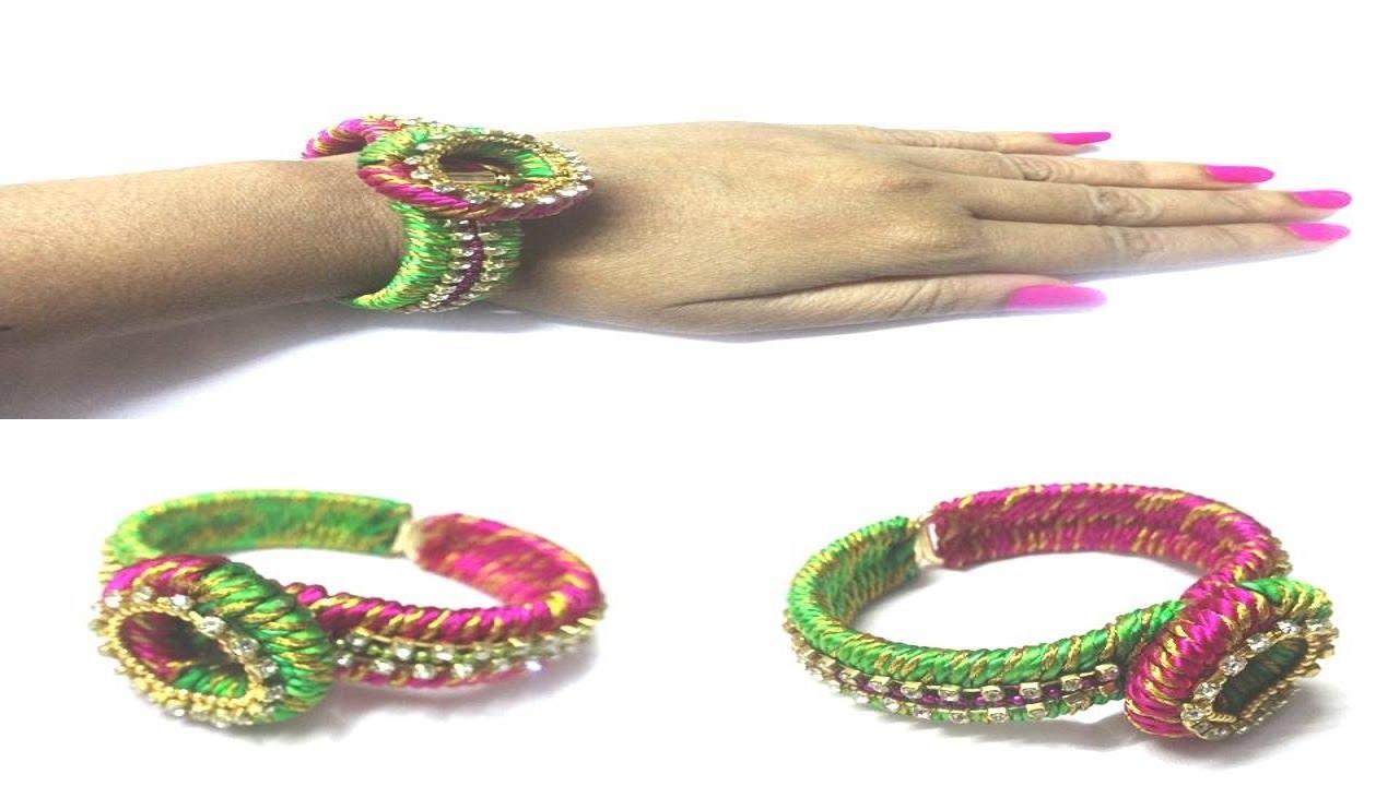 How To Make Designer Silk Thread Bracelet At Home Silk