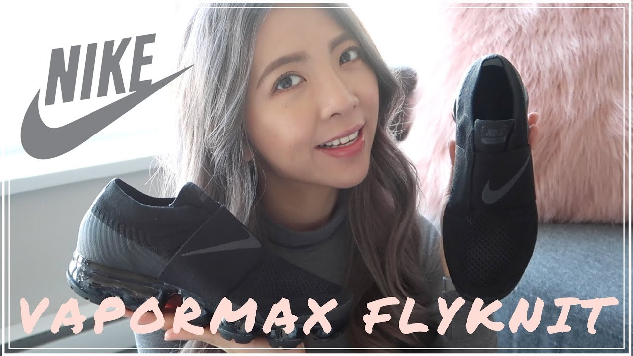 87918affe10 UNBOXING  NIKE AIR VAPORMAX FLYKNIT MOC (TRIPLE BLACK ANTHRACITE ...
