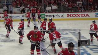 Chicago Blackhawks Warm-ups at Game 4 of the WCQF