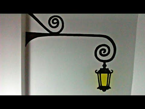 Duvara Sokak Lambasi Cizimi Youtube