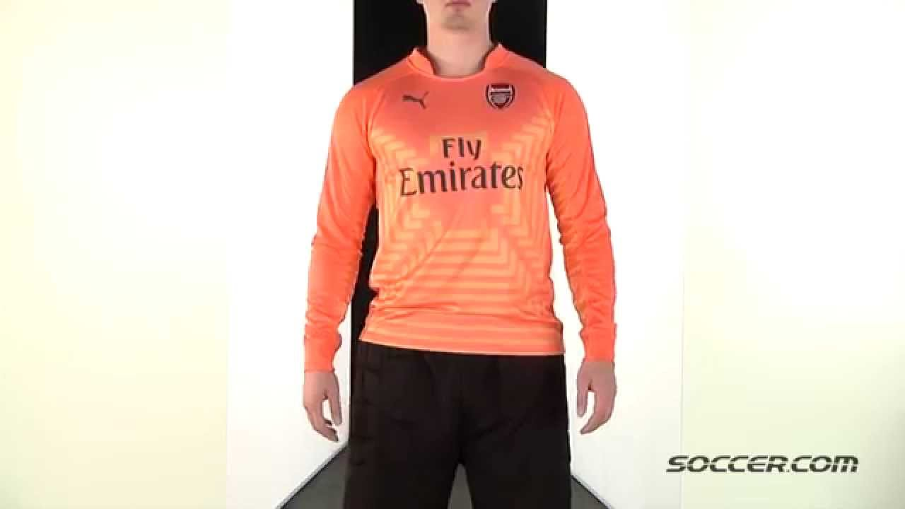 size 40 7e907 0d4ed 67008 PUMA Arsenal Long Sleeve Home Goalkeeper Jersey 14/15
