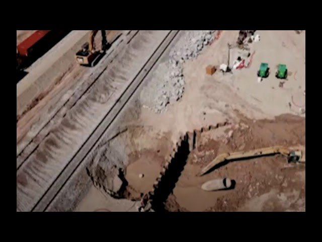Creeping Natural Disaster in California Threatens Train Tracks, State Highway