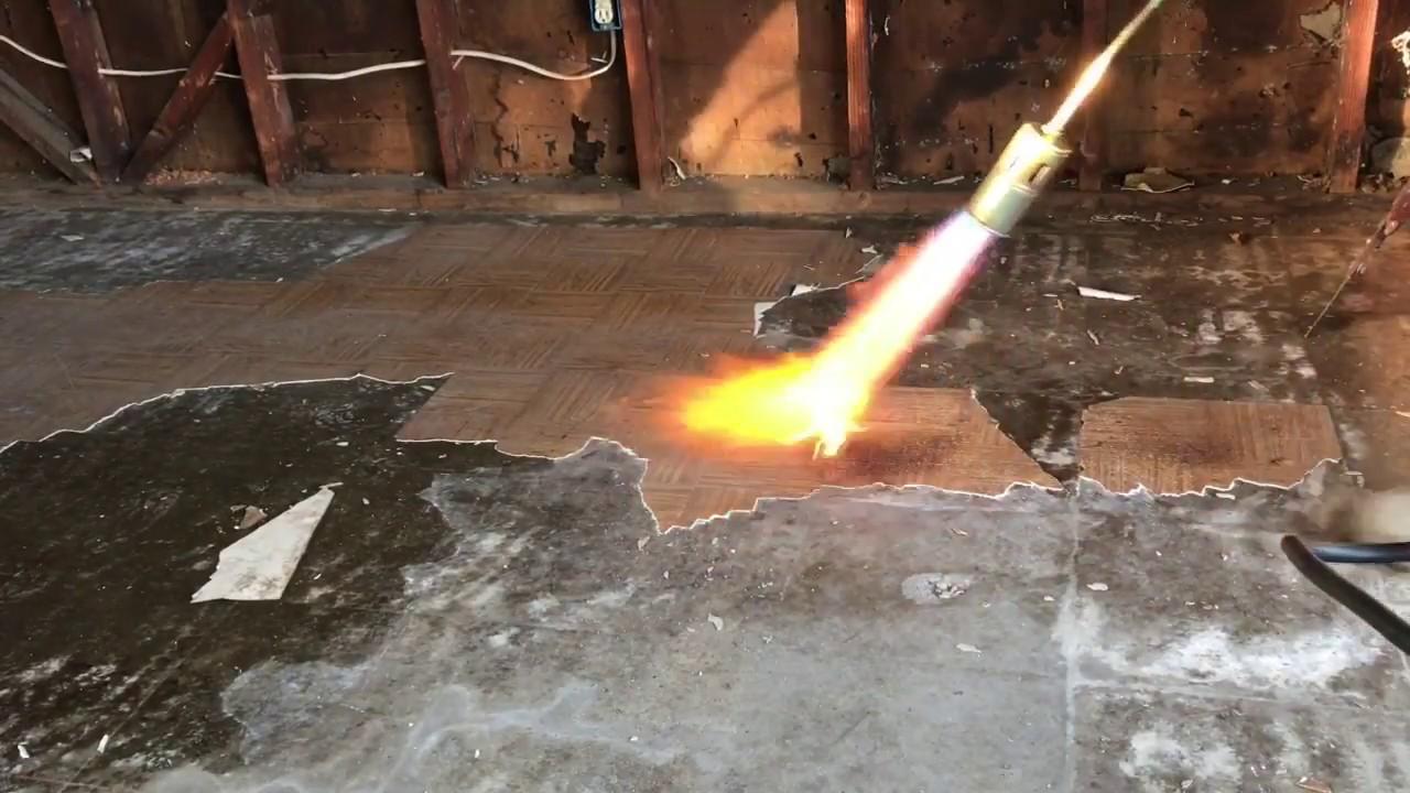 Removing linoleum flooring  YouTube