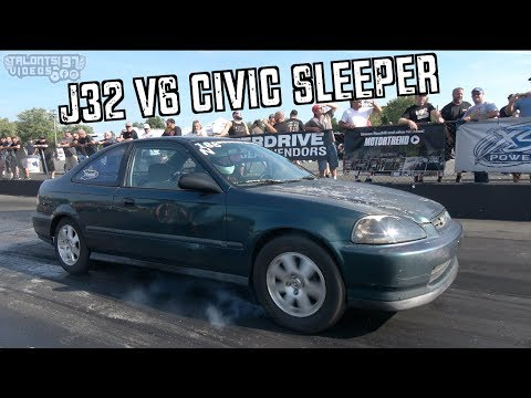 J32 V6 Swapped Civic Runs 12s During Drag Week 2019