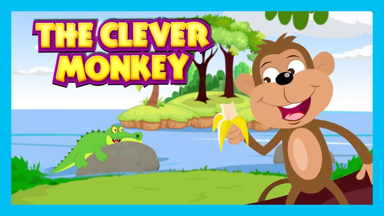 The Clever Monkey Story Bedtimes Story For Kids In English Monkey And Crocodile Story For Kids Youtube