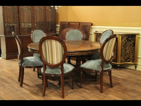 Round Dining Table Set for 6 - YouTube