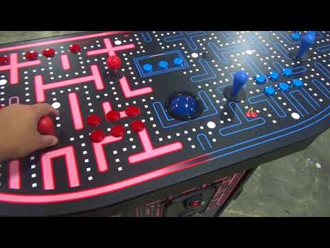 4 Player Pedestal Arcade Maze theme