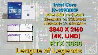 4K 램오버 - 리그오브레전드 5분 (10900KF, RTX 3080)