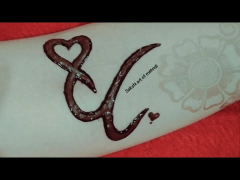 Demanded U Letter With Heart Mehndi Tattoo Design Youtube You may not post photos of tattoos unless they are yours. demanded u letter with heart mehndi tattoo design