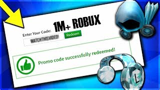 ROBLOX PROMO CODE GIVES YOU 1 MILLION ROBUX FOR FREE?! [STILL WORKING 2019]