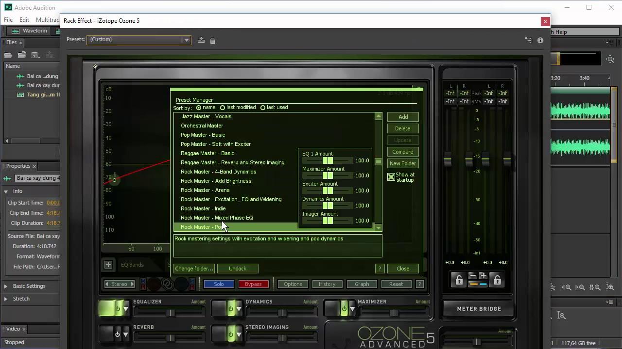 Tăng giảm Tone, chỉnh sửa âm thanh, Xóa, Cắt ghép nhạc bằng Adobe Adition CC 2015