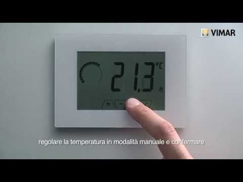 Vemer cronotermostato touch screen da parete chronos doovi for Programmazione termostato gbc