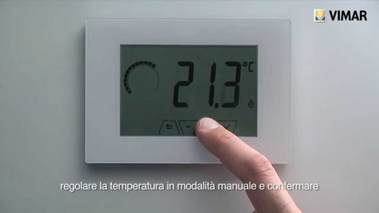 climathermo termostato touch da parete 02905 vimar youtube