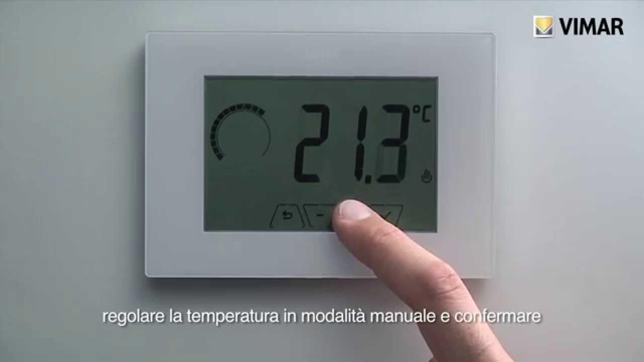 climathermo termostato touch da parete 02905 vimar youtube