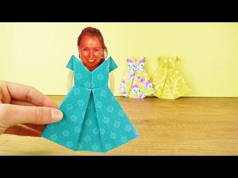 Origami Kleid für KATHI | Puppen Kleidung selber machen aus Papier und Cooles Styling ausprobieren