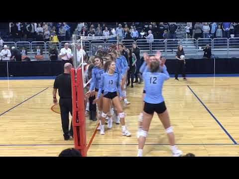Watch Grand Rapids Christian's Match-winning Point Vs. Kingsley In Volleyball Semifinals