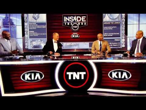 Inside tnt crew make fun of LeBron mustache
