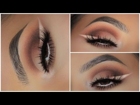 Warm Half Cut Crease Amp Ombre Liner Youtube