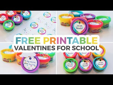 photo about Play Dough Valentine Printable known as Perform-Doh Valentines for Faculty + Free of charge Printable