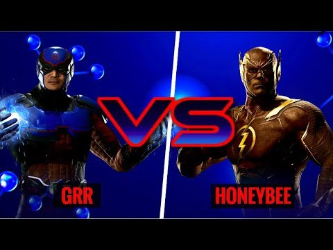 THIS MIGHT BE THE MOST ANNOYING CHARACTER IN INJUSTICE 2! Grr (Atom) vs HoneyBee (Flash)