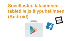 VTKL SeniorSurf: Sovellusten lataaminen ja poistaminen tabletilla ja älypuhelimella (Android)