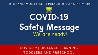 COVID-19 Safety Message - We are Ready!