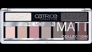 Матовая палетка теней Catrice 2017 |  the modern MATT | Обзор