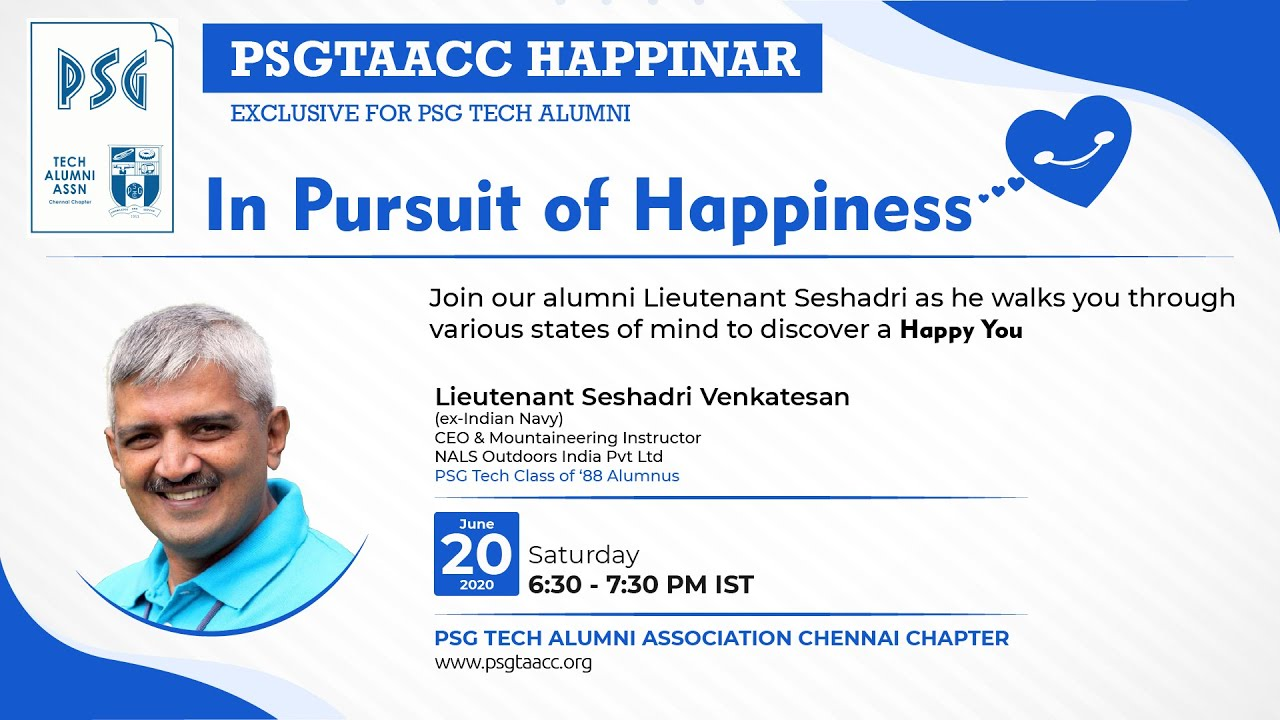 In Pursuit of Happiness: Happinar by Lieutenant  Seshadri Venkatesan