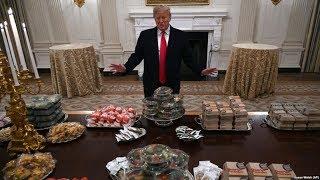 Трамп заказал в Белый дом 300 гамбургеров и сам заплатил за них