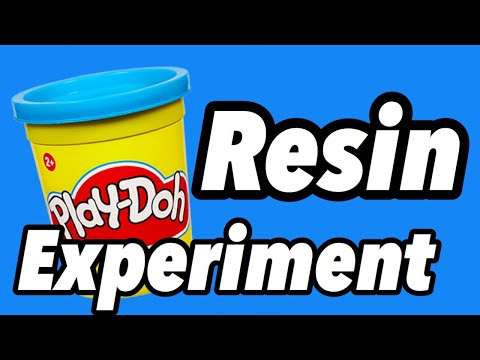 Play-Doh resin casting Experiment