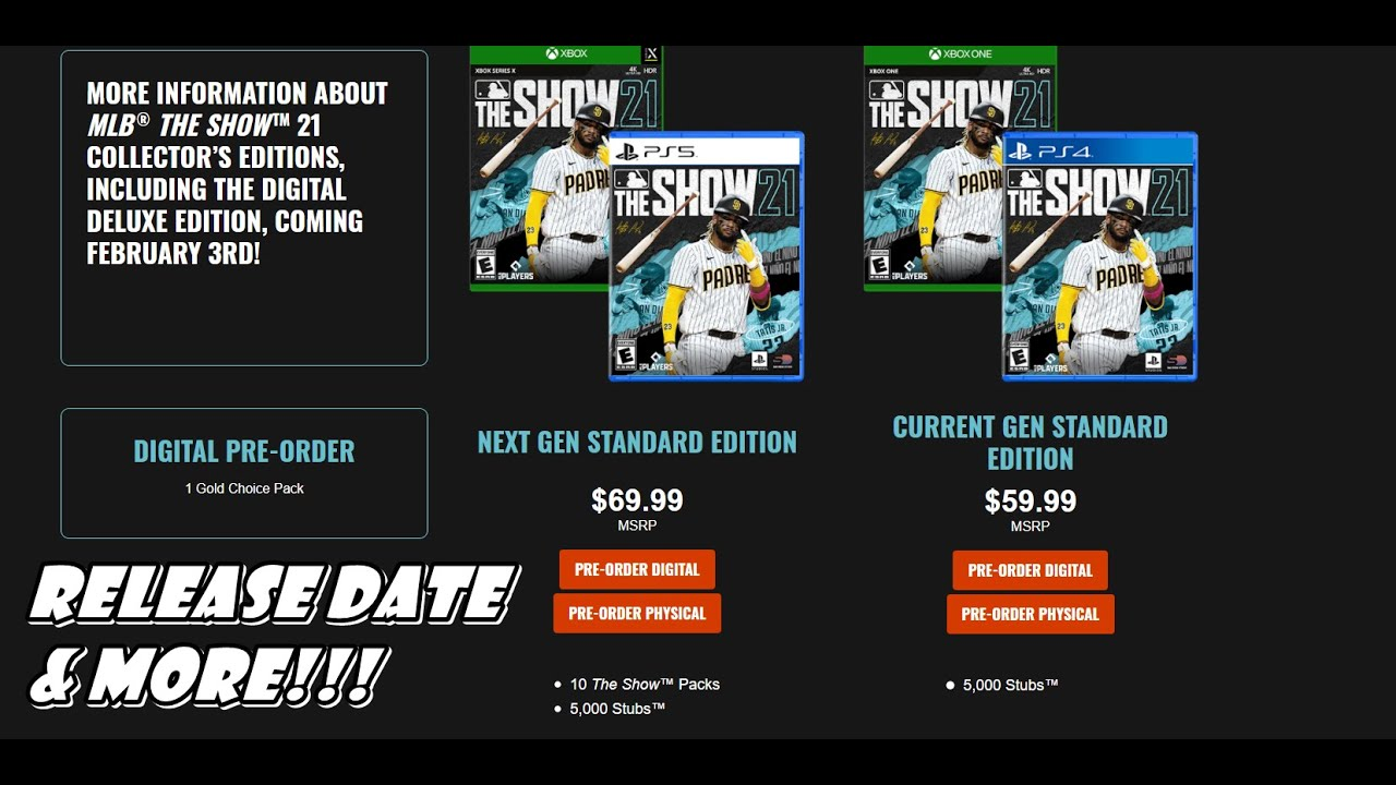 MLB The Show 21 OFFICIAL RELEASE DATE & MORE!