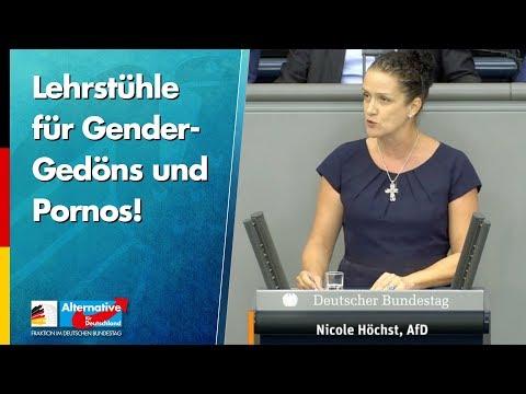 Lehrstühle für Gender-Gedöns und Pornos! - Nicole Höchst - AfD-Fraktion im Bundestag