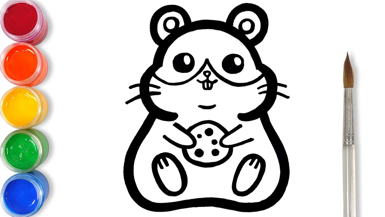 How to draw glitter Hamster for kids | TOBiART