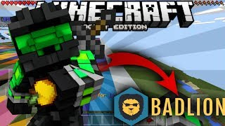 "SERVIDOR ""BADLION"" PARA MINECRAFT POCKET EDITION 1.1.3 (UHC SERVER)"