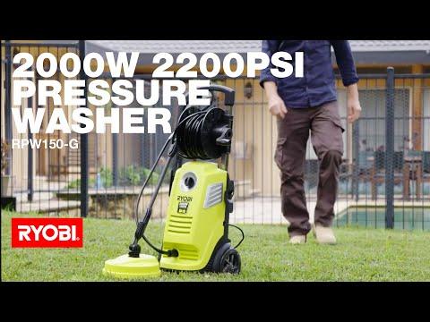RYOBI: 2000W 2200PSI Pressure Washer in action
