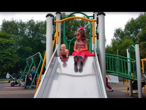 Thumbnail: Outdoor Playground for kids Family Fun | Nursery Rhymes Songs