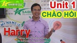 Unit 1: Chào hỏi trong tiếng anh - Series dạy học tiếng anh cho trẻ em tại nhà của Sabiedu