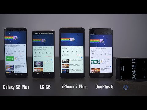 OnePlus 5 vs Samsung Galaxy S8+ vs iPhone 7+ vs LG G6 Comparison!