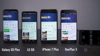 OnePlus 5 vs Samsung Galaxy S8+ vs iPhone 7+ vs LG G6 Comparison!